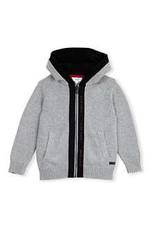 HUGO BOSS Knitted zip-up hoody