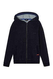 HUGO BOSS Denim zip-up hoodie 4-16 years