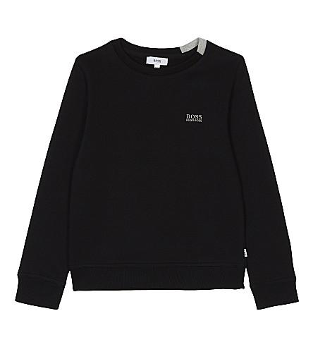 BOSS Classic cotton-blend sweatshirt 4-16 years (Black