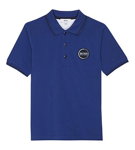 BOSS Logo cotton polo shirt 4-16 years (Blue