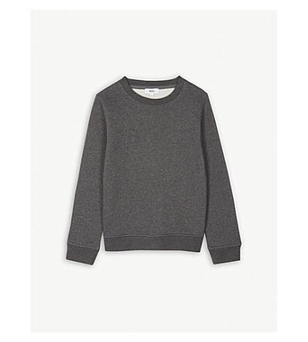 BOSS Logo cotton-blend jumper 4-16 years (Dark+grey+marl