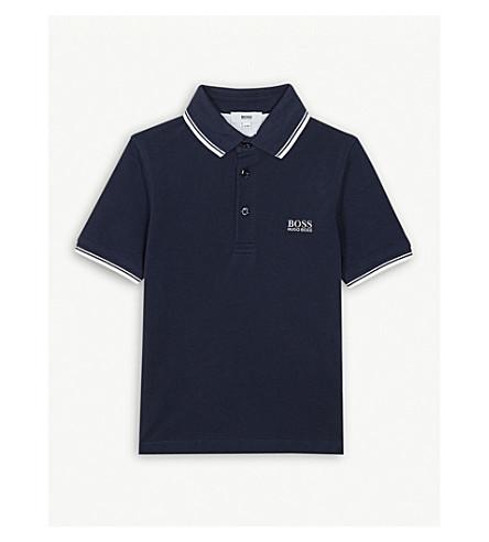 BOSS Logo cotton polo shirt 4-16 years (Navy