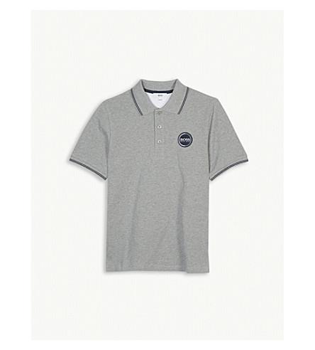 BOSS Logo cotton polo shirt 4-16 years (Grey