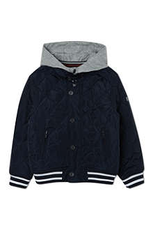 BOSS Quilted baseball jacket 4-16 years