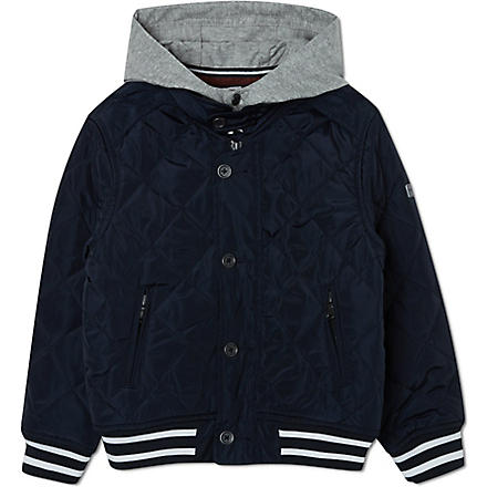BOSS Quilted baseball jacket 4-16 years (Navy
