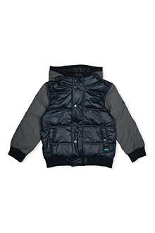 HUGO BOSS Contrast-detail quilted jacket 4-16 years