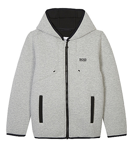 BOSS Neoprene zip hoody 4-16 years (Grey
