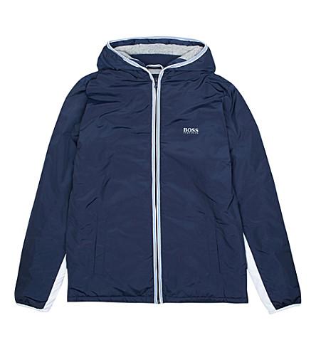 BOSS Striped trim windbreaker jacket 6-36 months (Navy