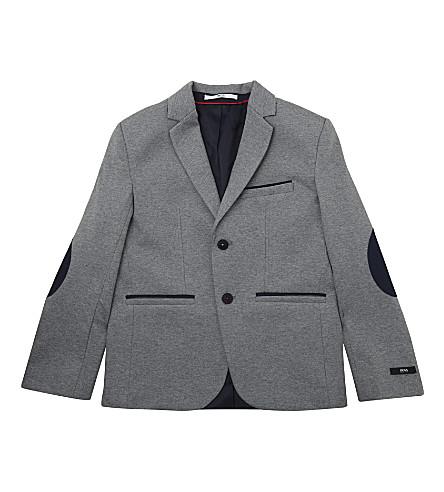 BOSS Cotton jersey blazer 4-16 years (Grey