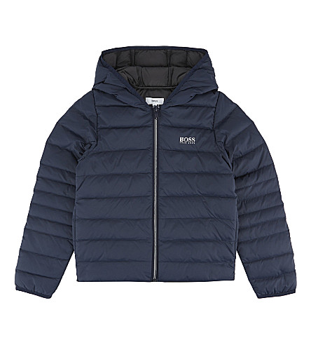 BOSS Down-filled puffa jacket 4-16 years (Navy