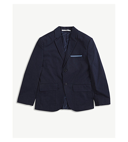 BOSS Cotton formal blazer (Navy