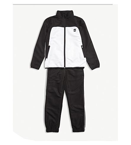 BOSS 标志色块运动服 4-16 岁 (黑色/白色