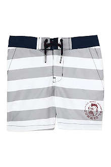 LITTLE MARC Striped swimming shorts