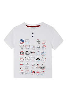 LITTLE MARC Faces t-shirt 3-12 years