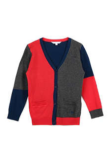 LITTLE MARC Colour-blocked cotton cardigan 3-12 years