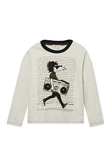 LITTLE MARC Long sleeve illustrated tshirt 4-14 years