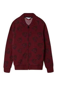 LITTLE MARC All over print zip sweatshirt 4-14 years