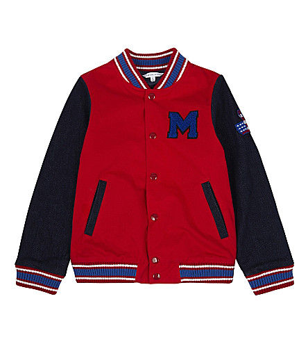 LITTLE MARC Logo varsity jacket 4-14 years (Red