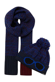 LITTLE MARC Glasses hat and scarf set