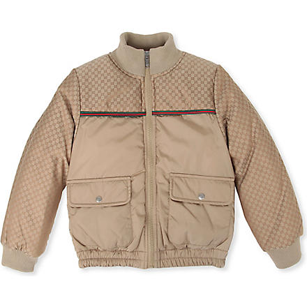 GUCCI Bomber zip jacket 4-12 years (Beige