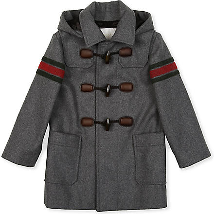 GUCCI Striped duffle coat 4-12 years (Grey