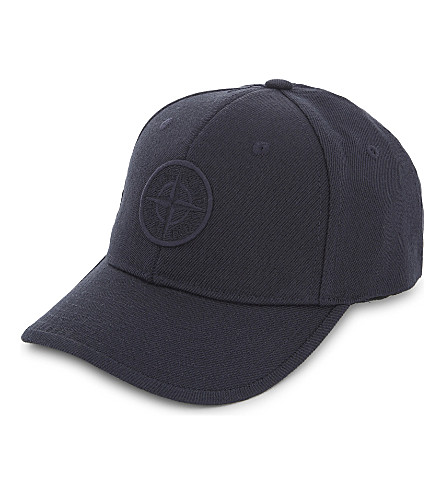STONE ISLAND Compass logo baseball cap 14-16 years (Navy+blue