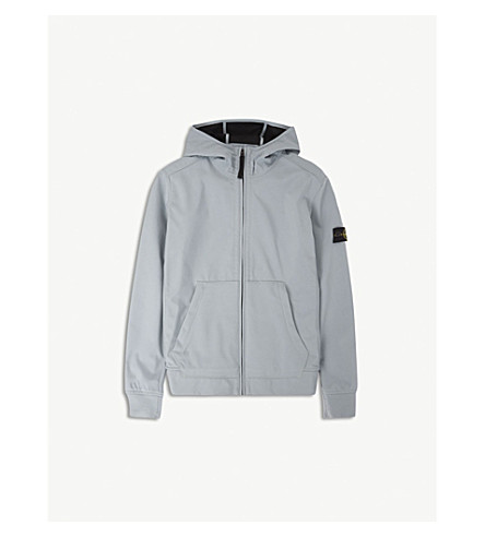 STONE ISLAND Hooded soft shell jacket 4-14 years (Grey