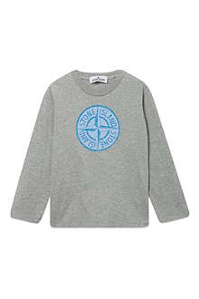 STONE ISLAND Logo print long-sleeved top 2-14 years