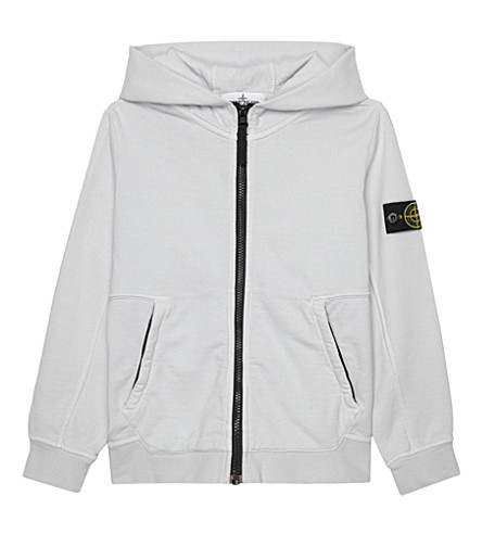 STONE ISLAND Zip up cotton hoody 4-14 years (Grey