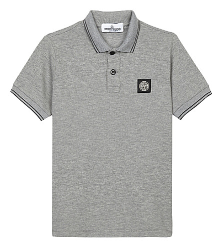 STONE ISLAND Logo-appliqué polo shirt 4-14 years (Dust