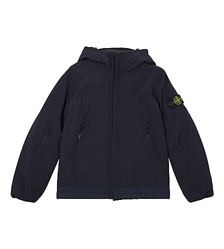 STONE ISLAND Softshell PrimaLoft® jacket 4-14 years (Navy+blue