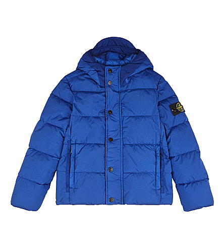 STONE ISLAND Hooded down jacket 4-14 years (Bright+blue