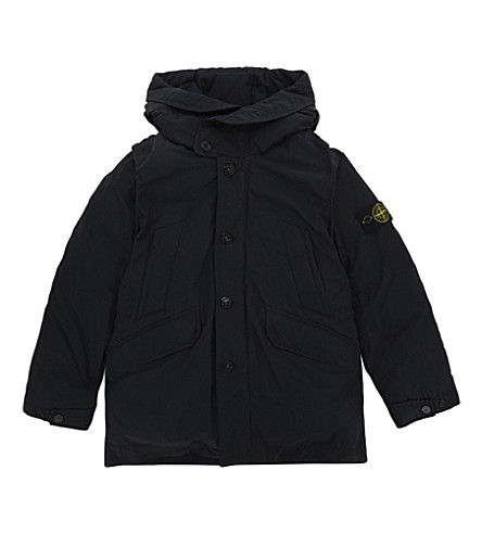 STONE ISLAND Padded down hooded coat 4-14 years (Navy+blue