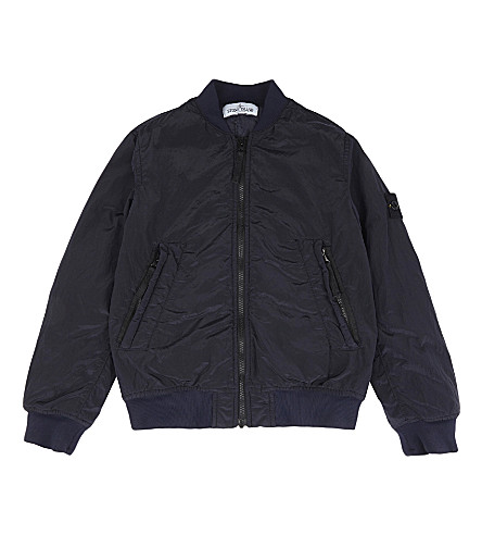 STONE ISLAND Bomber jacket 4-14 years (Blue+marine