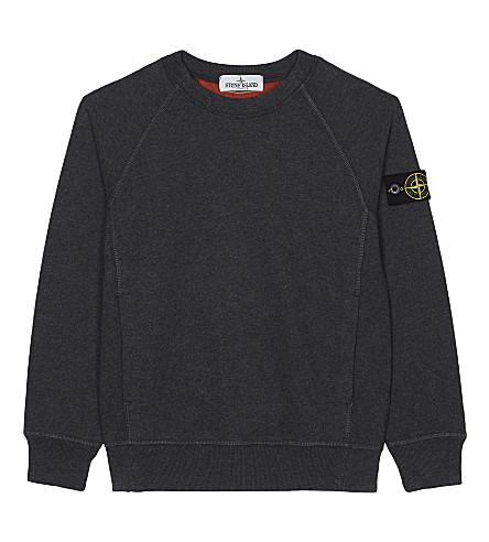 STONE ISLAND Crew neck cotton sweatshirt 4-14 years (Charcoal