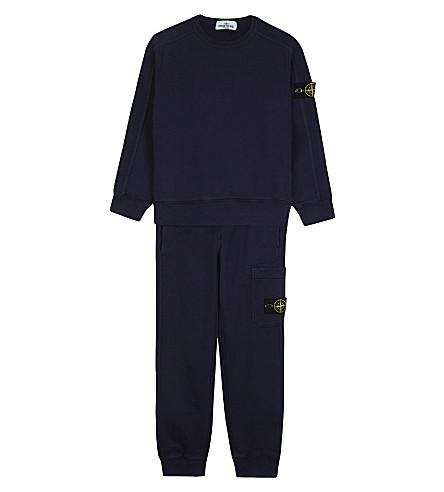 STONE ISLAND Cotton track suit 4-14 years (Blue+marine