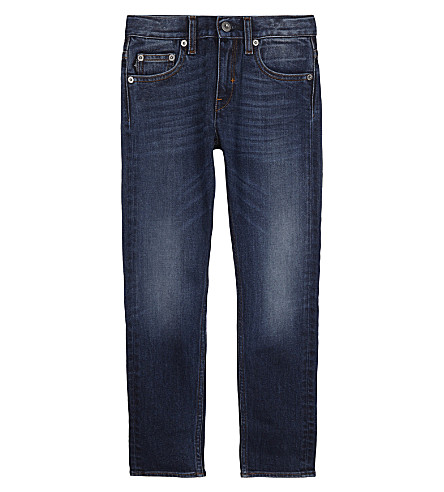 STONE ISLAND Skinny-fit washed denim jeans 4-14 years (Real