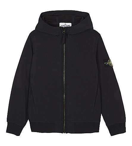 STONE ISLAND Softshell hooded jacket 4-14 years (Coal+grey