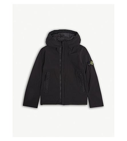 STONE ISLAND Soft shell hooded jacket 4-14 years (Black