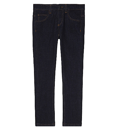 FENDI Logo print straight leg denim jeans 4-14 years (Denim