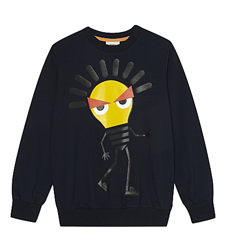 FENDI Lightbulb cotton sweatshirt 4-14 years (Navy