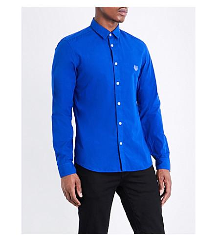 KENZO Slim-fit cotton shirt (Bright blue