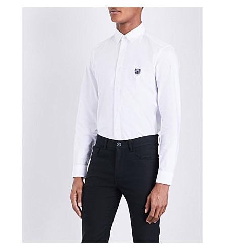 KENZO Tiger-embroidered cotton shirt (White