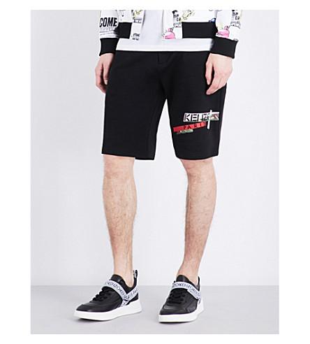 KENZO Logo-print cotton shorts (Black