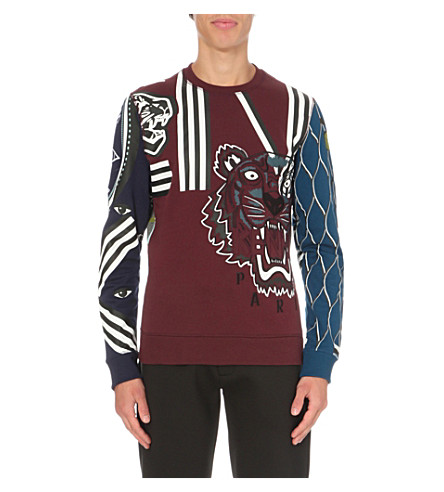 KENZO Multi-icon cotton-jersey sweatshirt (Multi