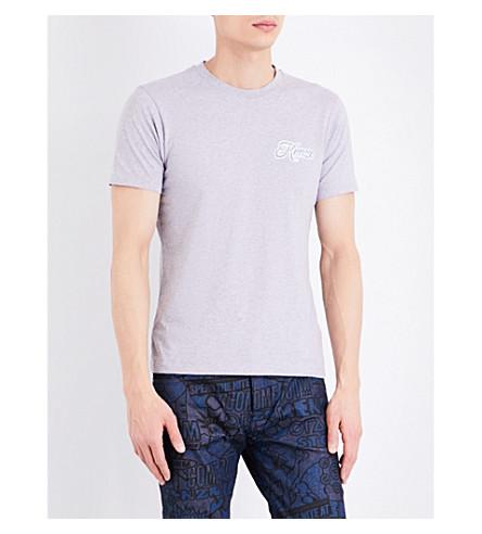 KENZO Logo-print pure-cotton T-shirt (Pearl grey