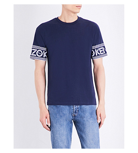 KENZO Logo-print cotton-jersey t-shirt (Ink
