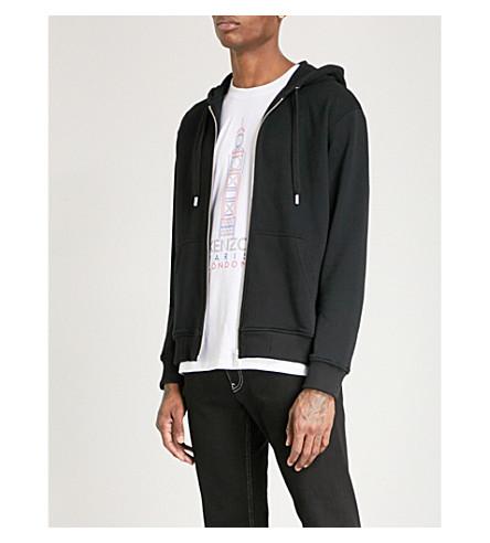 KENZO Logo-print cotton-jersey hoody (Black
