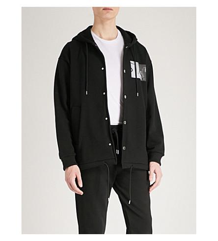 KENZO Photo print cotton-jersey hoody (Black