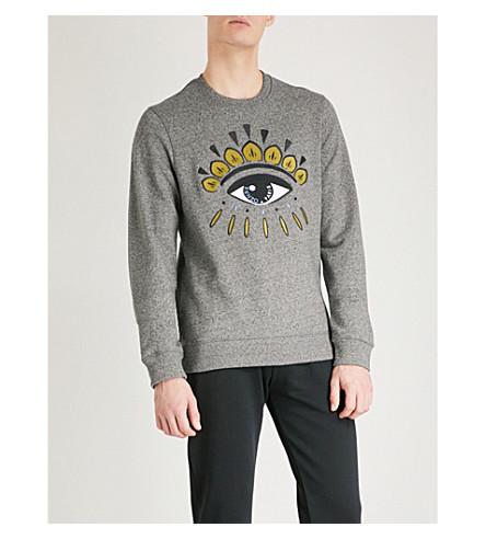 KENZO Eye Icon cotton-jersey sweatshirt (Grey